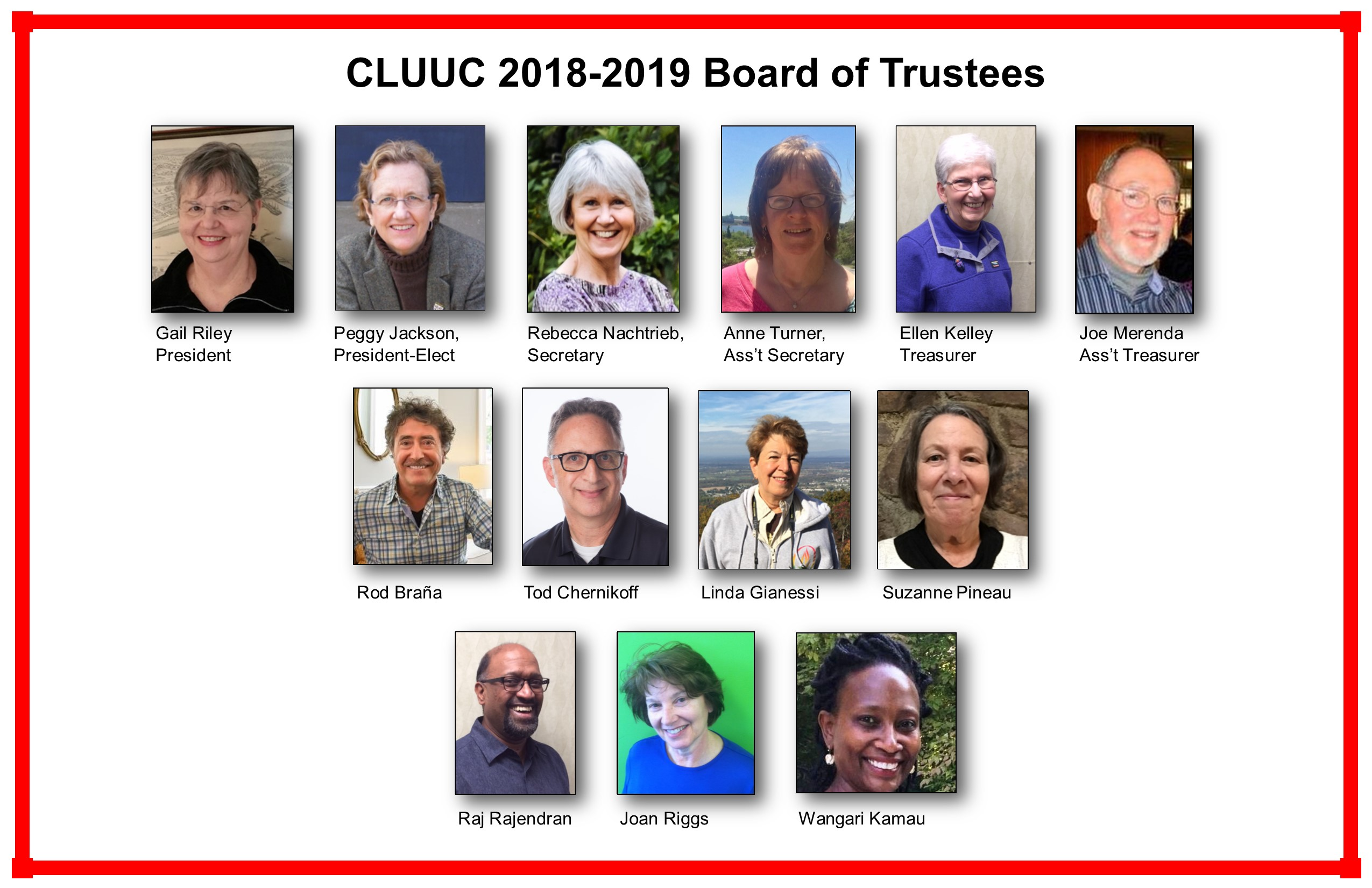 updated board of trustees headshots and names 2018-19