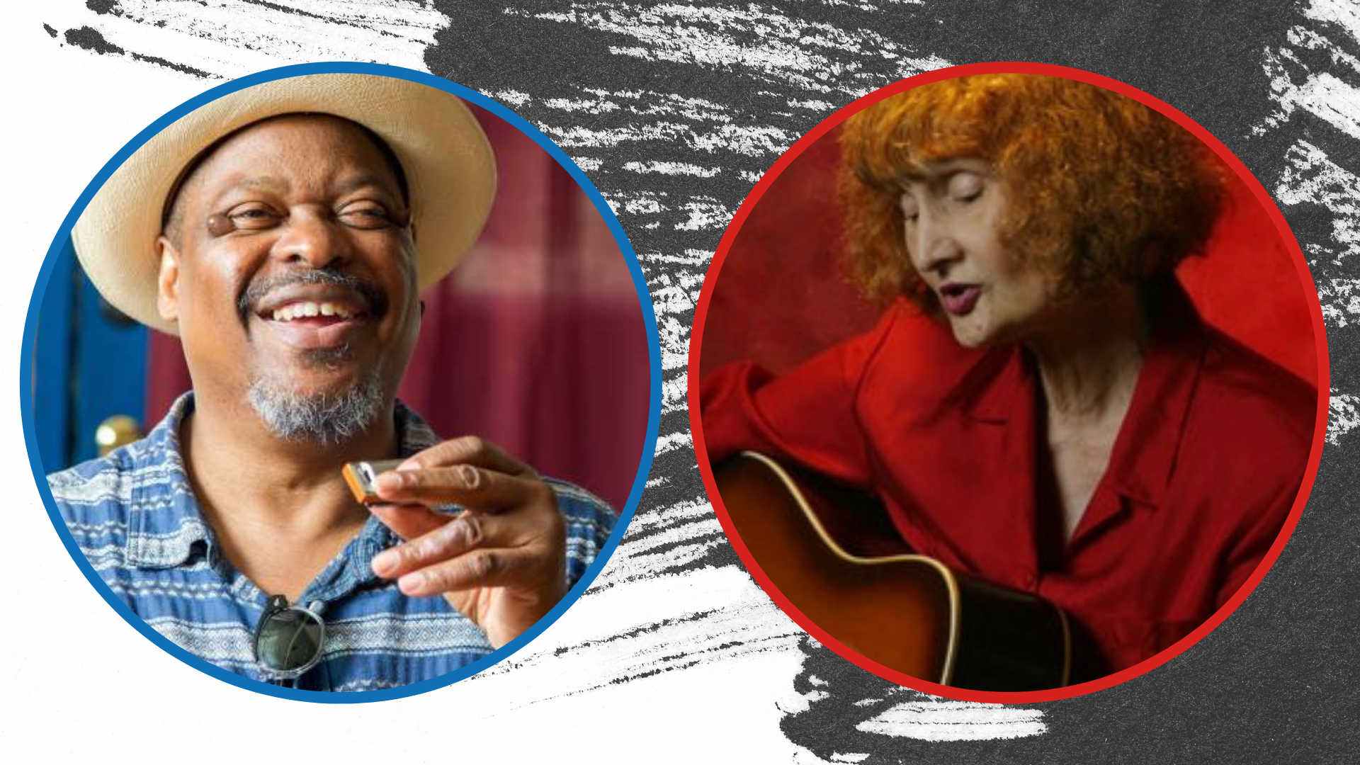 graphic with photos of Phil Wiggins and Eleanor Ellis