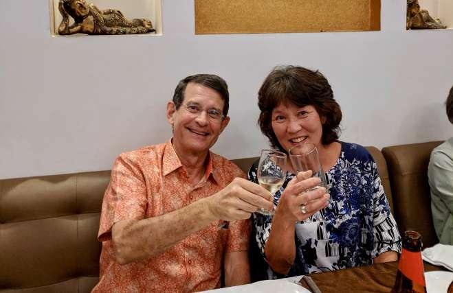 Sandy Dawsey and Joyce on India trip with Cedar Lane UU Church