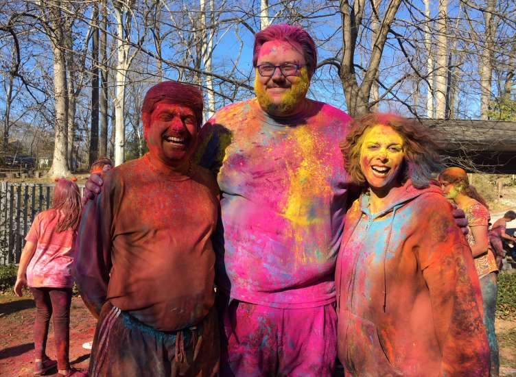 Senior Staff at Holi Celebration in Spring 2018