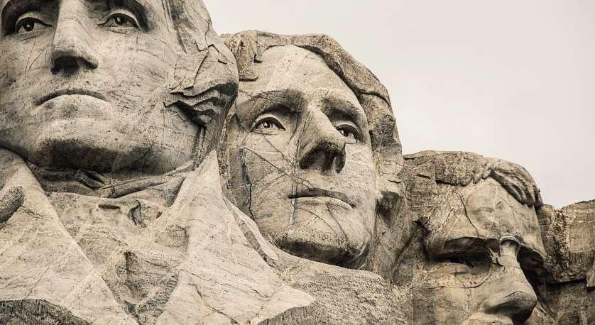 artistic photo of Mt. Rushmore