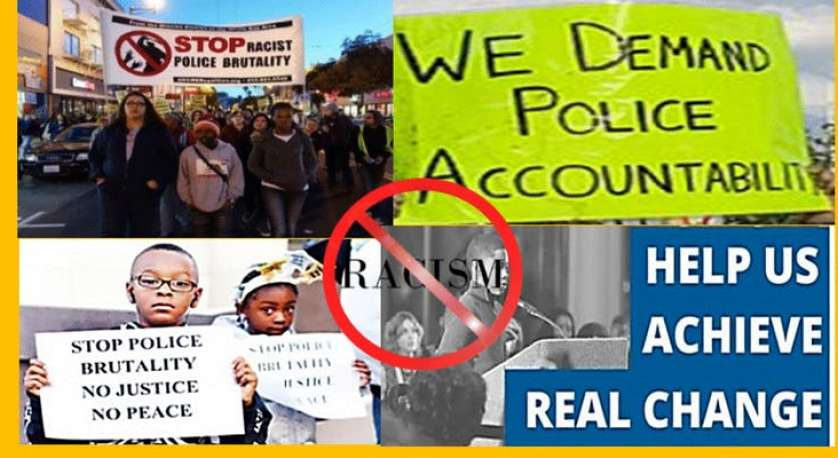 "police accountability workshop graphic that says ""Help us achieve real change"""