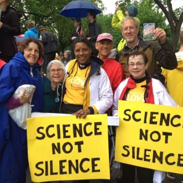 Cedar Lane members at the March for Science in April 2017
