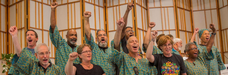 DC Labor Chorus at the Cedar Lane Love Over Hate Interfaith Rally
