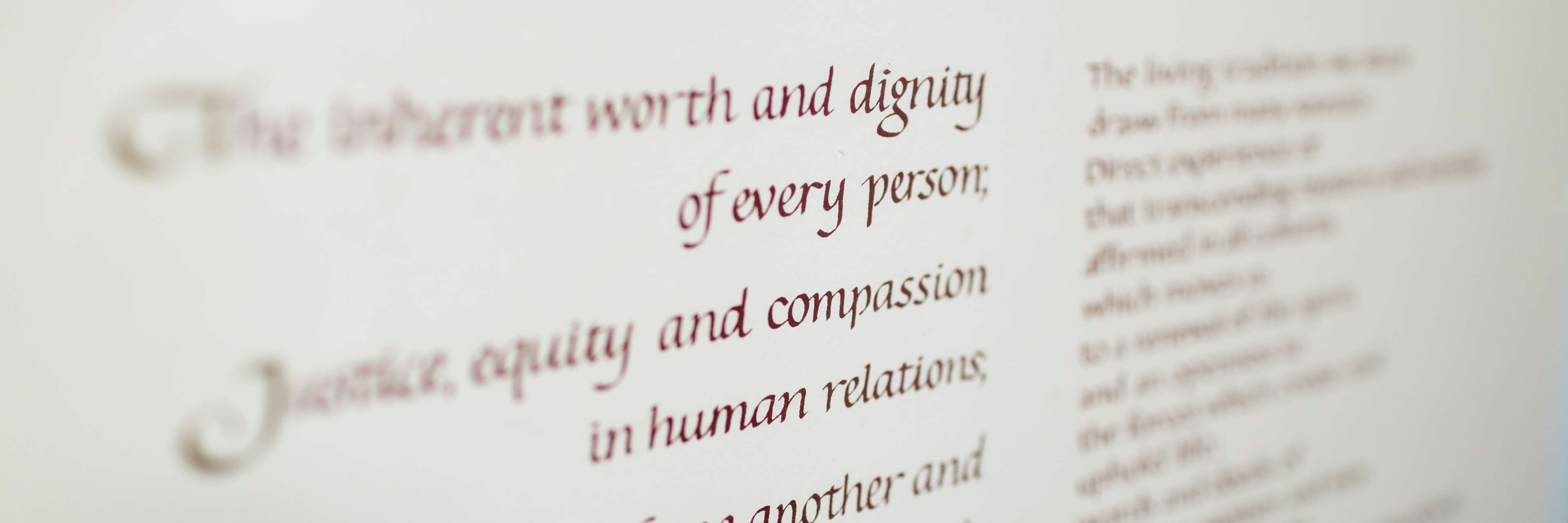 photo of a poster of Unitarian Universalist Principles