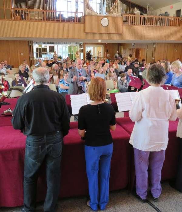 Handbell Choir performance during Sunday worship