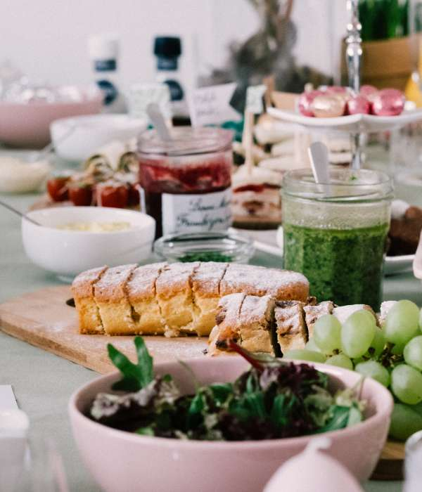 brunch spread out on table