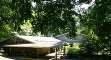 Cedar Lane building in summer time