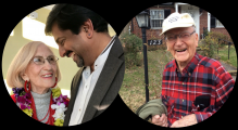 graphic celebrating two Cedar Lane church members turning 100 this Fall 2017